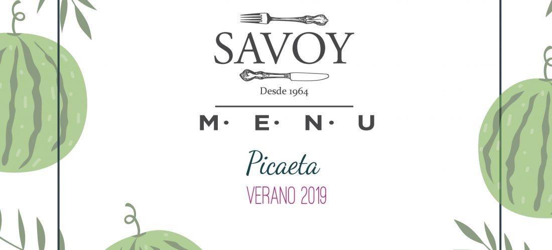 Menús Picaeta de Verano 2019