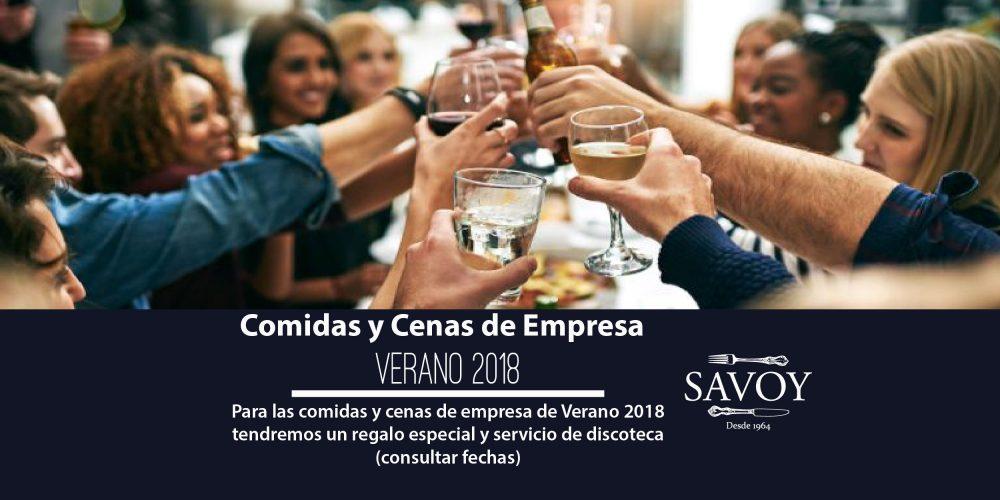 Comidas y Cenas de Empresa de Verano 2018